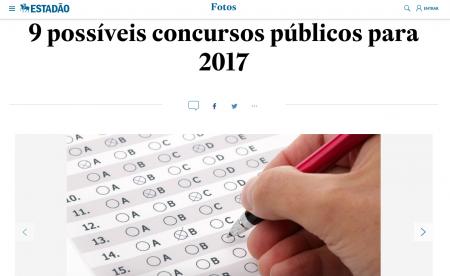 9 possíveis concursos públicos para 2017