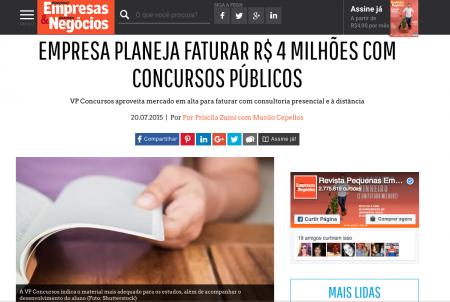 Empresa planeja faturar R$ 4 milhões com concursos públicos