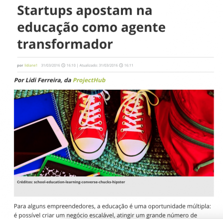 Startups apostam na educação como agente transformador